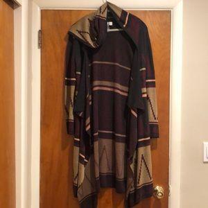 Long Aztec Sweater Cardigan
